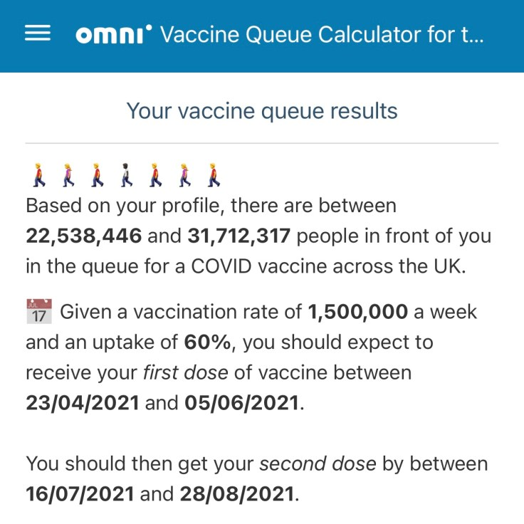 Vaccine Queue Calculator
