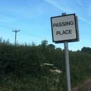Road sign saying passing place
