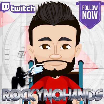 Rockynohands Quadriplegic Adaptive Gamer Twitch Live Stream Feed