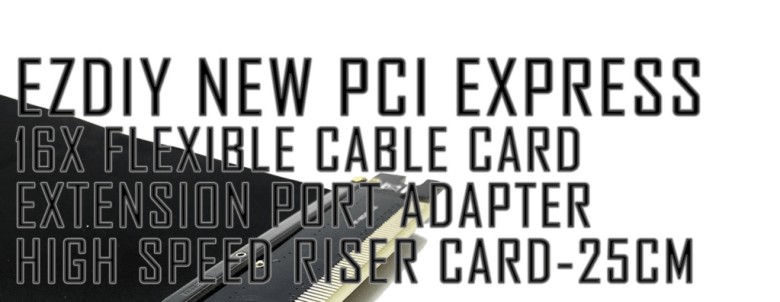How to install PCI express cable extension ezdiy pcie extension