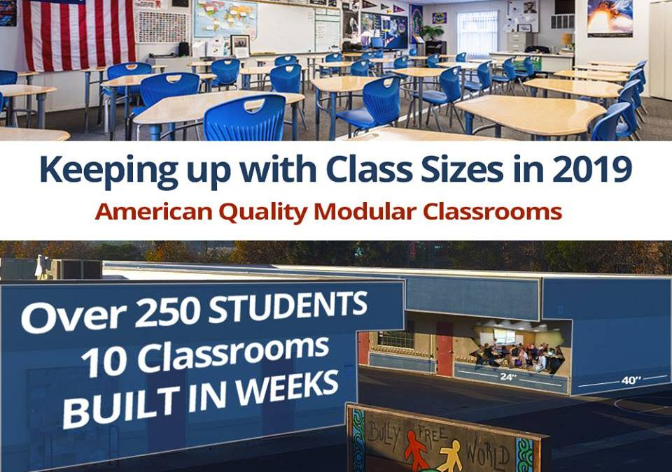 Keeping up with Class Sizes in 2019
