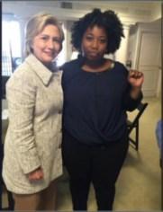 Hillary Clinton meets with Aurielle Lucier of Black Lives Matter