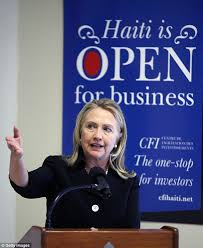 Hillary - Haiti open for business