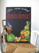 料理教室のチョークアート看板