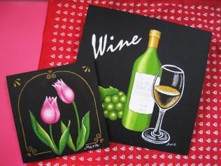 ワインとチューリップ