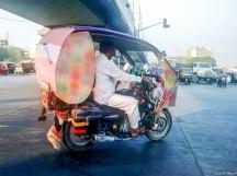 Why would anyone deck up a cruise bike as a rickshaw?
