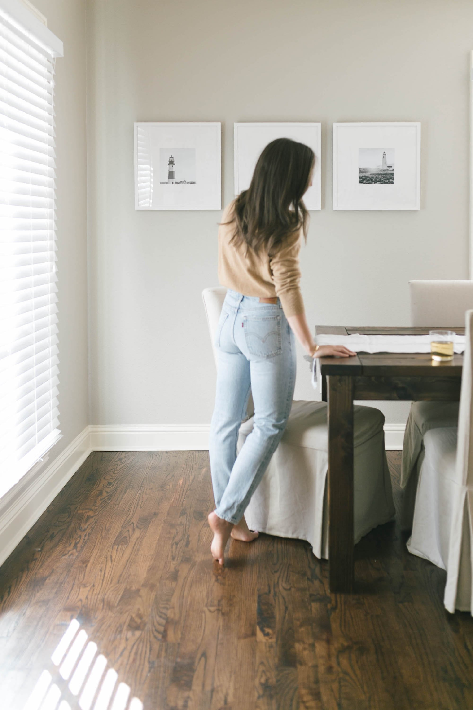 J.Crew Cashmere Sweater and Levi Jeans