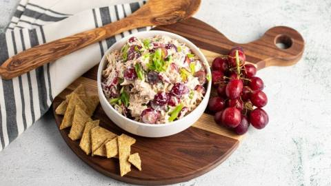 Chicken and Grape Waldorf Salad Meal Prep Meal Planning Counting Macros