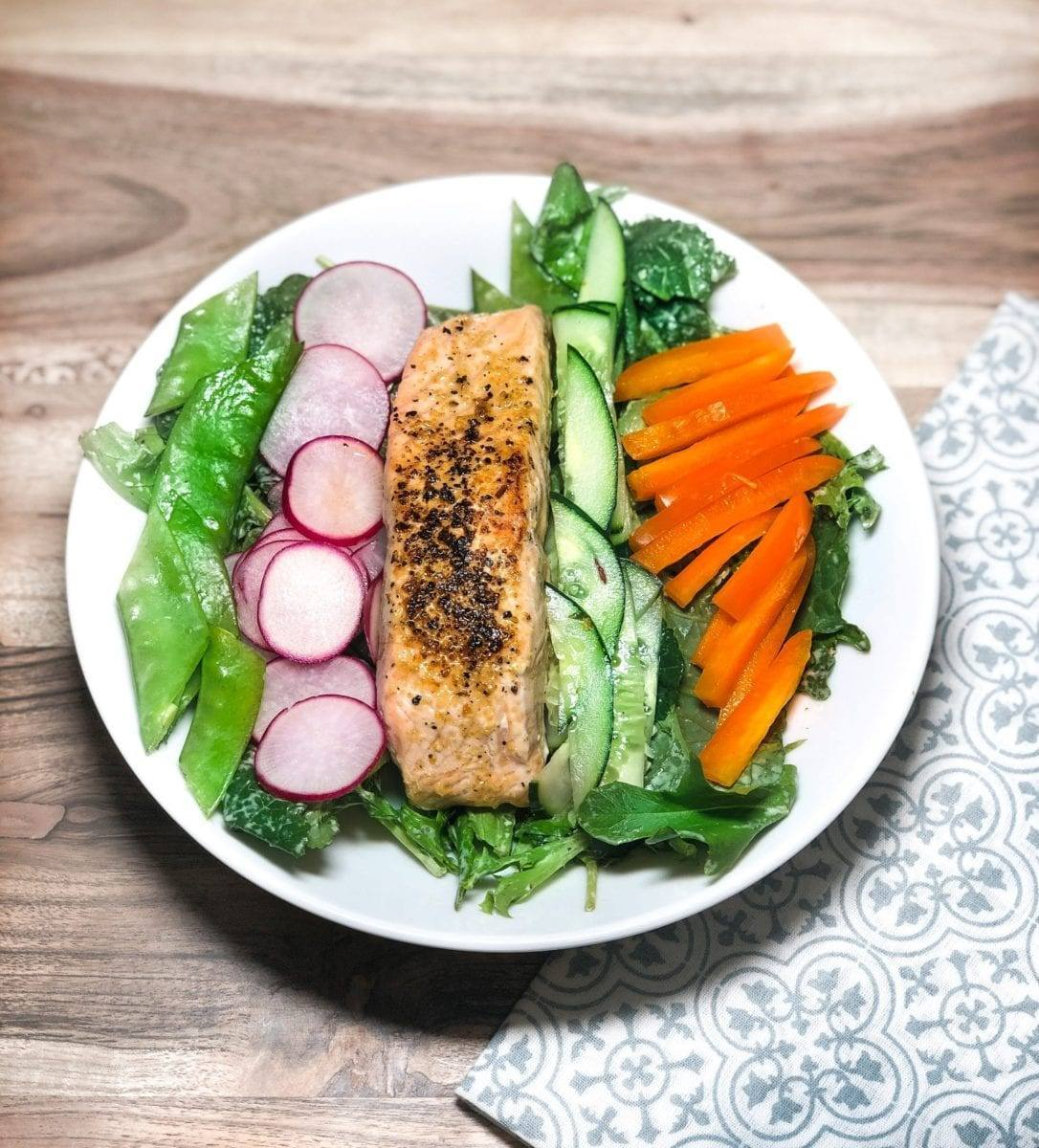 Salmon Radish Salad