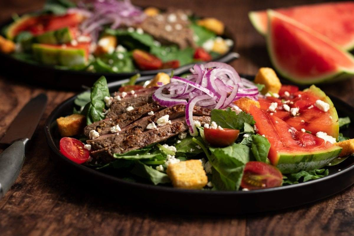Steak & Watermelon Salad