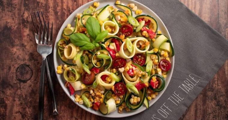 Zucchini Noodles with Corn Salsa