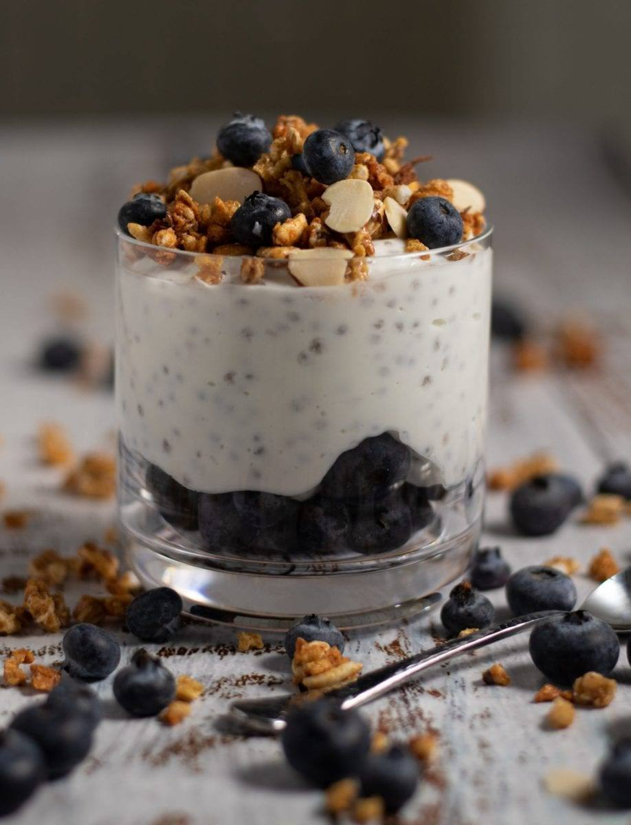 Blueberry Chia Seed Parfait