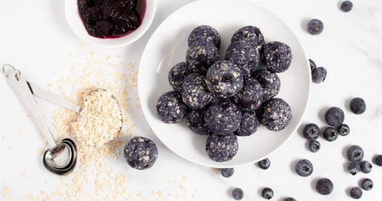 Blueberry Protein Balls