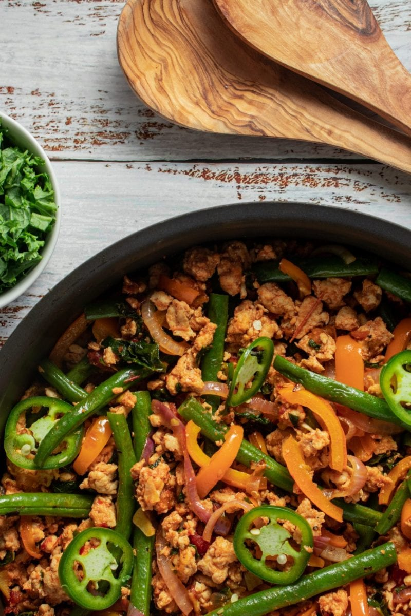 Turkey Kale and Green Beans