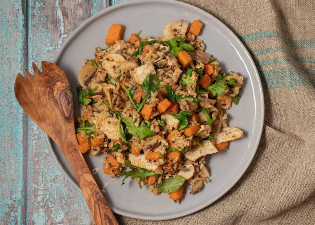 Dirty Rice with Sweet Potato and Chicken
