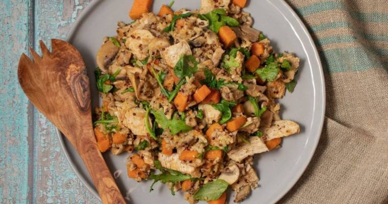 Dirty Rice with Sweet Potatoes and Chicken