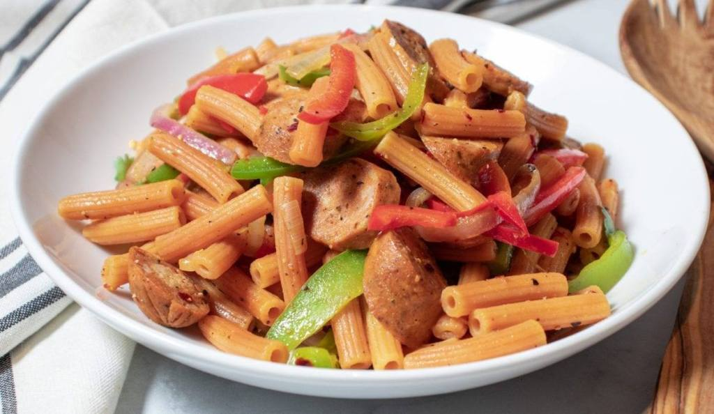 Chicken Sausage Pasta Salad Meal Prep Meal Planning Counting Macros