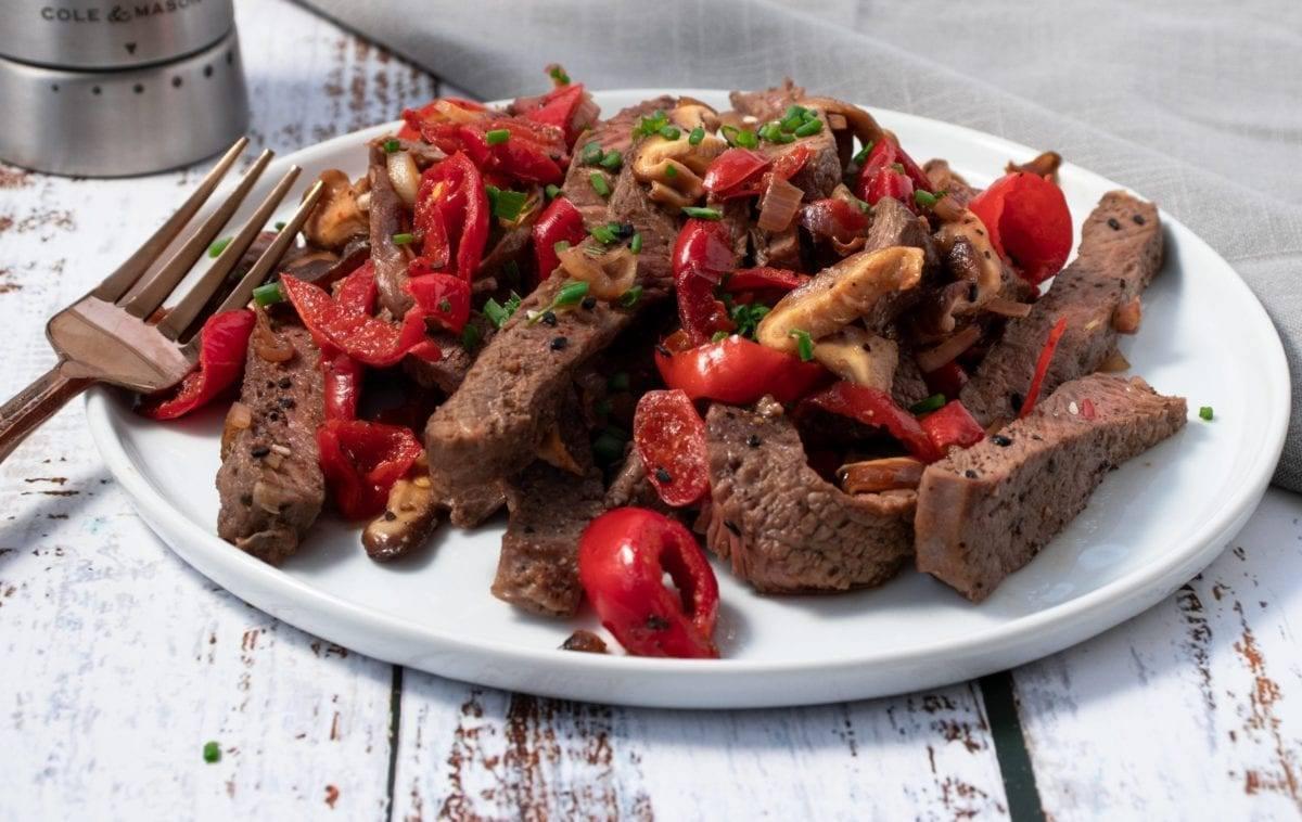 Mushroom with Cherry Pepper Steak