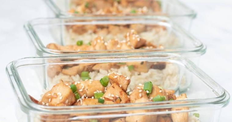 Honey Sesame Chicken and Rice
