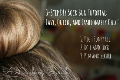 3 step sock bun