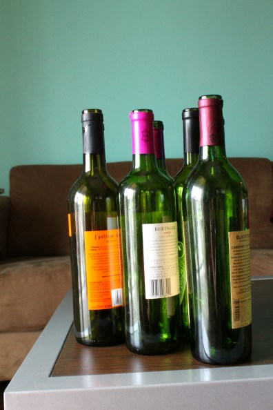 Empty Wine Bottles for DIY Project