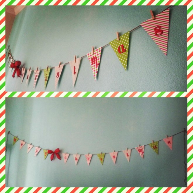 Christmas themed bunting