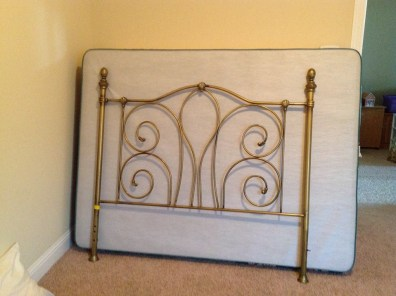 brass bed frame antique queen size on a budget inexpensive