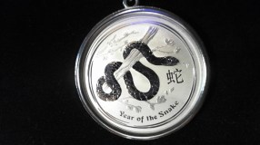 "$144 Badass Year of the Snake Necklace (18"" includes sterling silver chain)"