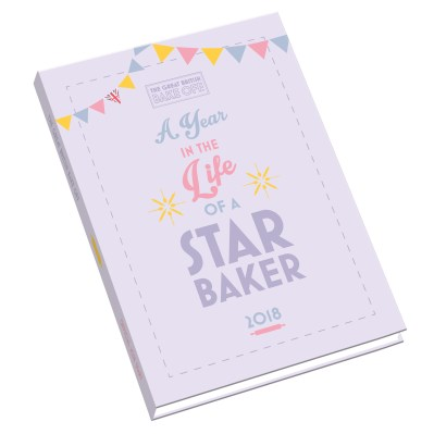 Bake Off 2018 A5 Diary 3D