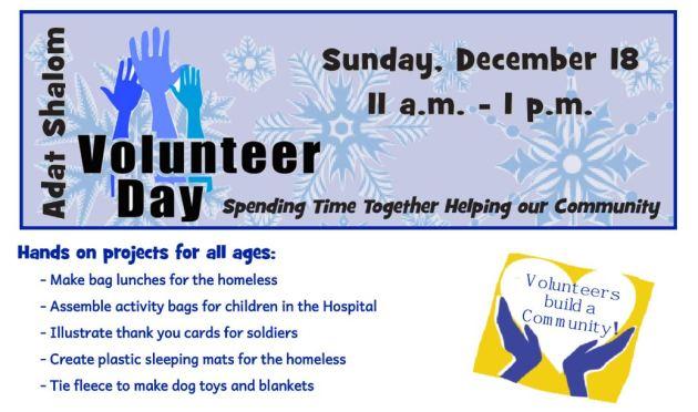 adat shalom volunteer-day