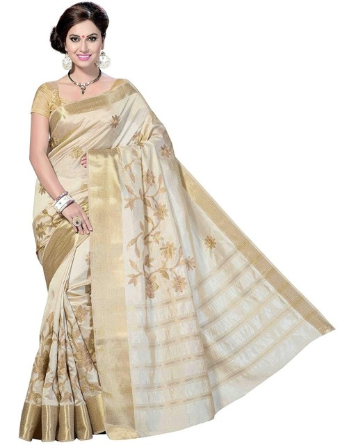 Rani Saahiba Art Silk Saree With Blouse Piece