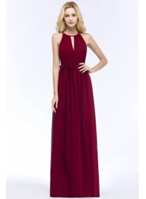 Cheap Burgundy Chiffon Bridesmaid Dresses