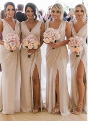 Simple Chiffon Long Bridesmaid Dresses
