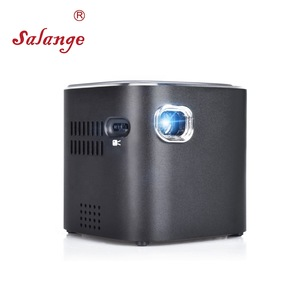 Salange S12 Portable Mini Cube Projector with Android Bluetooth WiFi Battery Wireless 1080p Smartphone Pocket Beamer for Travel
