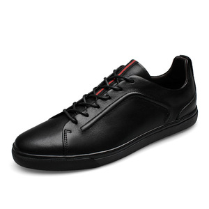 Custom sneaker factories top quality lace-up leather fashion casual sneaker for man 2