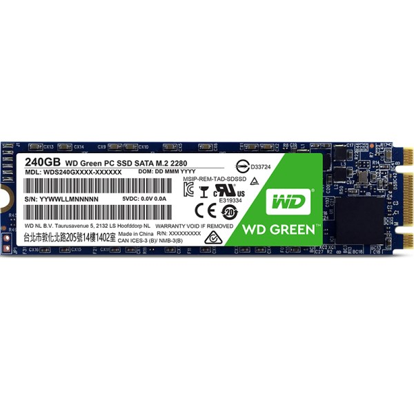 WD Green M.2 PC Solid State Drive 240GB SSD 2