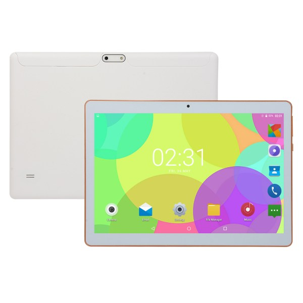 KT107 10.1 Inch 4G-LTE Tablet Android 8.0 Bluetooth PC 8+128GB Dual SIM with GPS White US plug 2