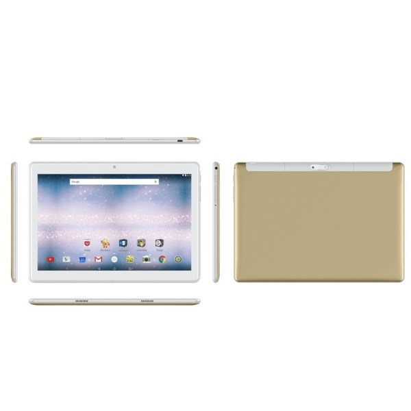 10.1 Inch 2.5D Curved Screen Android 8.0 Arge 2560 * 1600 IPS Screen Tablet PC gold US plug 2