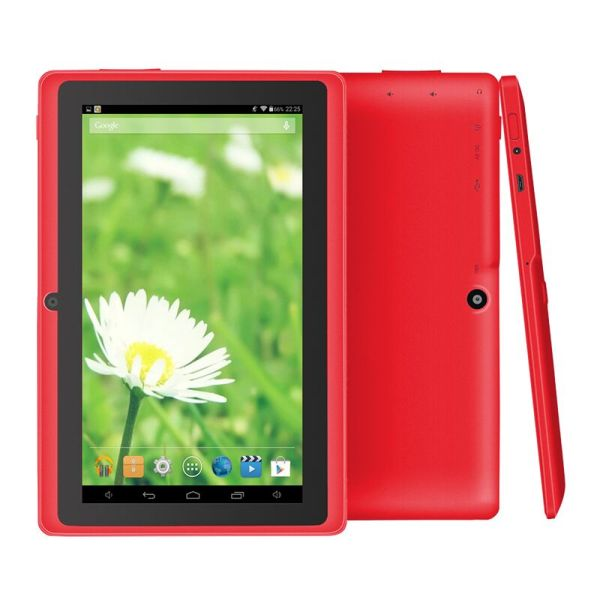 "7"" Wifi 1024*600 Screen Tablet PC 512+8 EU Standard 3-axis Gravity Induction Tablet PC red_European regulations 2"