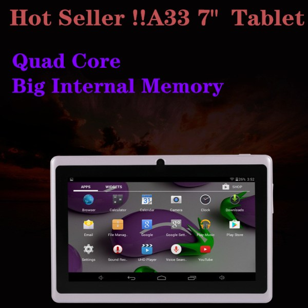 7 inch Tablet PC 1024x600 HD White_512MB+8GB 2