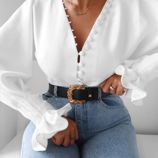 Button Front Bell Sleeve Top 2