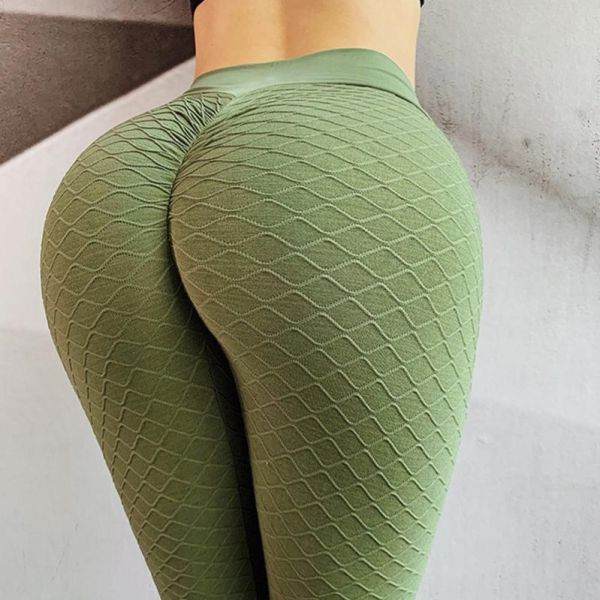 High Waist Elastic Fitness Sport Gym Leggings Yoga Pants 2