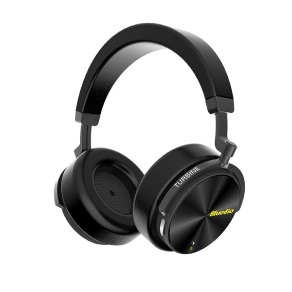 Bluedio T5S Active Noise Cancelling Wireless Bluetooth Headphones Portable Headset with Microphone - Black 2