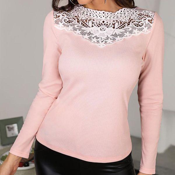 Crochet Lace Long Sleeve Blouse 2