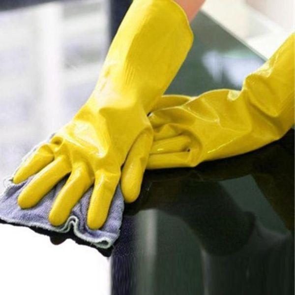 Reusable Dishwashing Rubber Gloves 2
