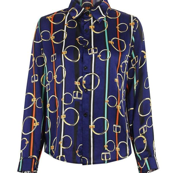 Colorful Striped Printed Long Sleeve Shirt 2