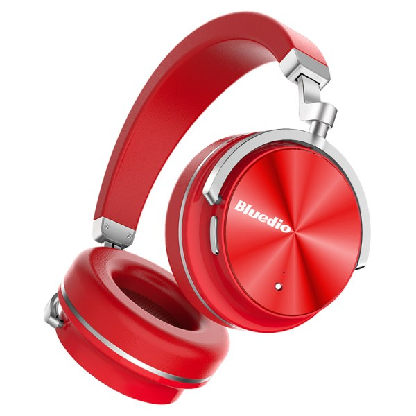 Bluedio T4 Active Noise Cancelling Wireless Bluetooth Headphones Headset with Microphone for Phone Red 2