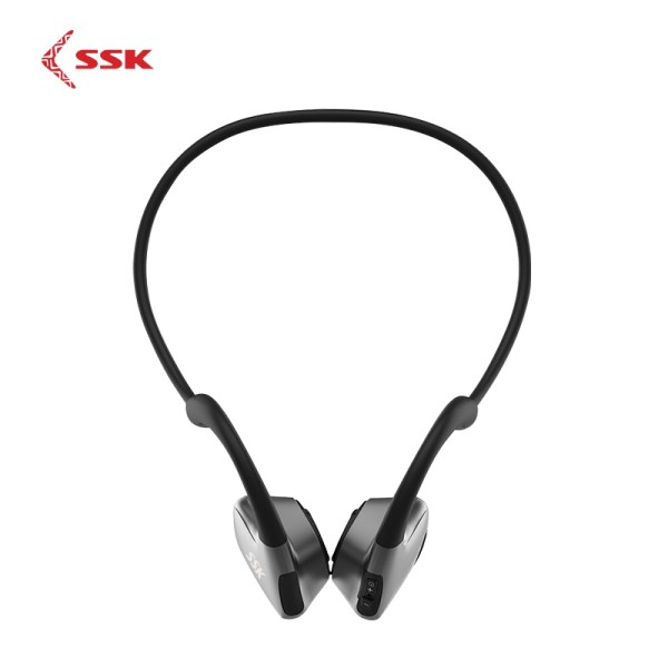 SSK Bone Conduction Earphone Wireless Bluetooth 5.0 Sport Earphone Waterproof with Microphone BT011 Black 2