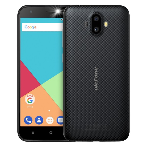 Ulefone S7 Smart Phone - 5 Inch, Android 7.0, MTK 6580 Quad-core 32-bit 1.3GHz, 1GB RAM 8GB ROM - Black 2