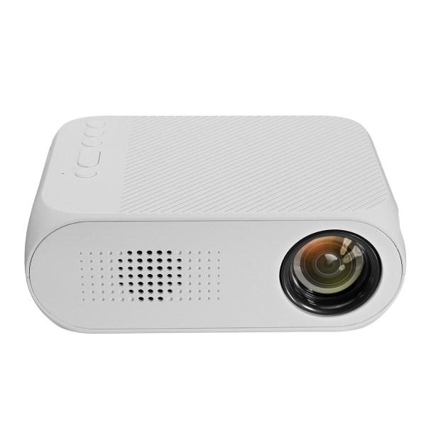 LEJIADA 1080P Mini LED Projector - 400 Lumens, 23 Languages, U Disk Display, TF Card Display, AV Connection - White EU Plug 2